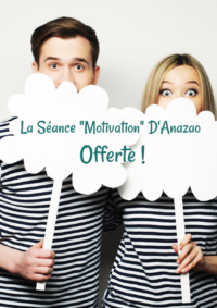 la séance motivation d'anazao offerte photo avec message